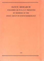 Dance Research 1991.