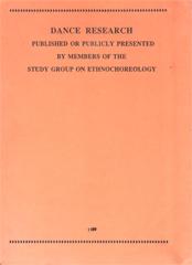 Dance Research 1989.