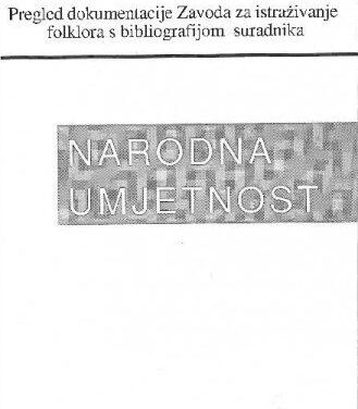 Pregled dokumentacije Zavoda za istraživanje folklora s bibliografijom suradnika