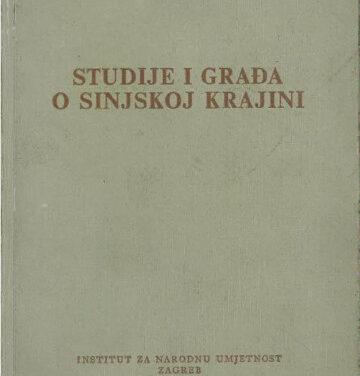 Studije i građa o Sinjskoj krajini